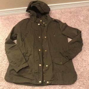 LOVE TREE Olive Green utility jacket